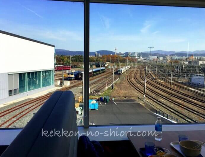 京都鉄道博物館 レストランから見える景色