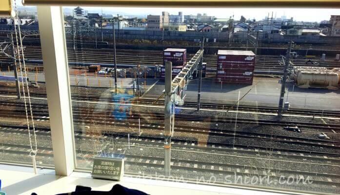 京都鉄道博物館 レストランから見た景色