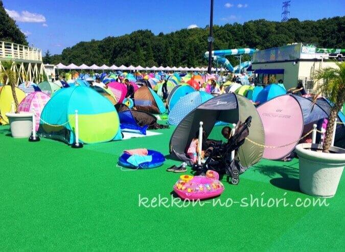 ネスタリゾート神戸 プール テント設営エリア