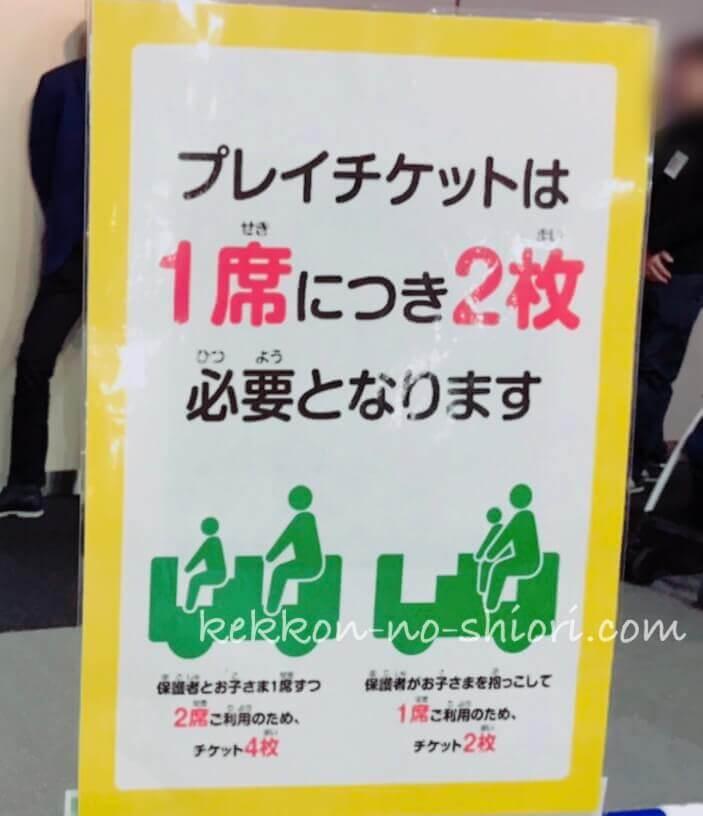 プラレール博in大阪 2020 プレイチケット